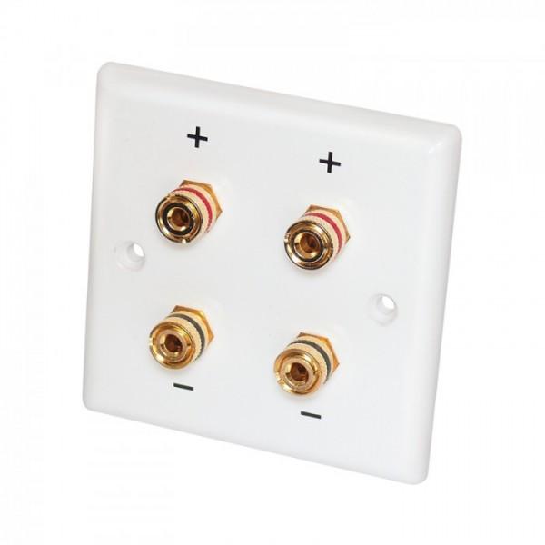 Dynavox Lautsprecher Wanddose für 2 Paar