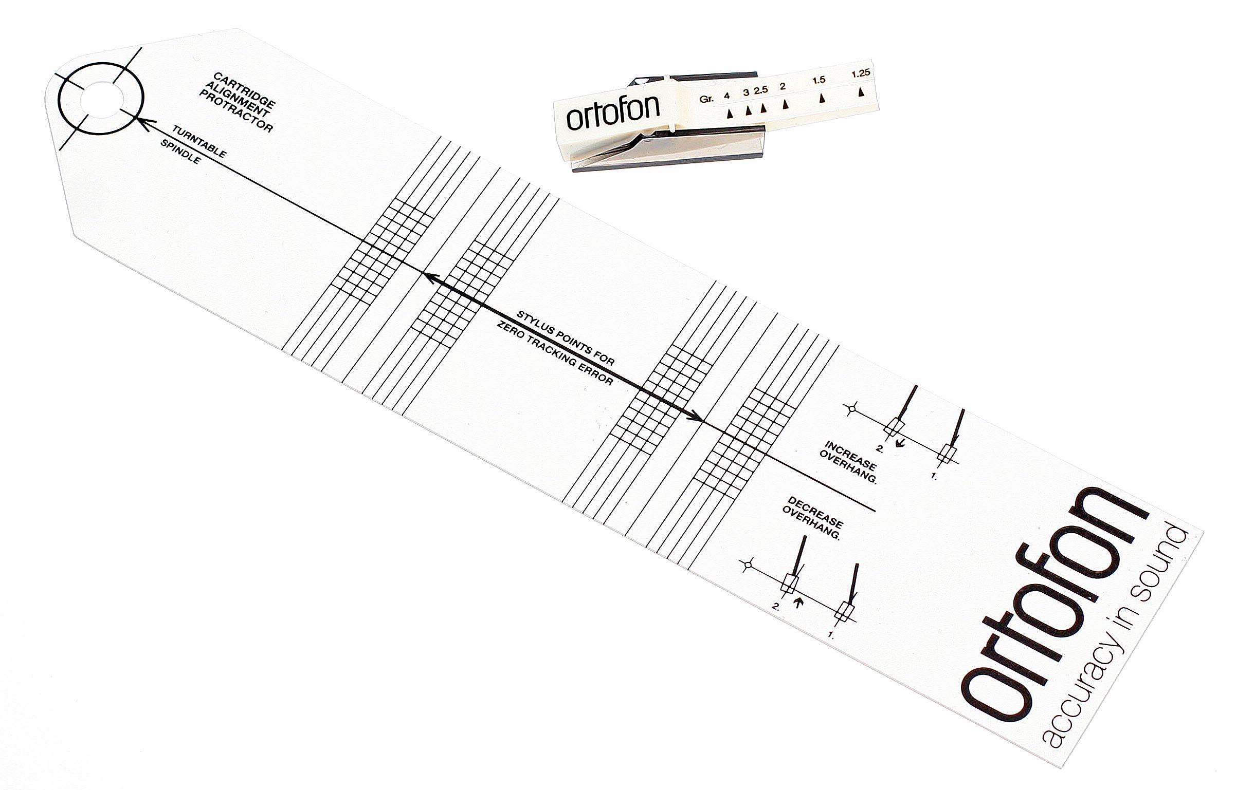 ortofon  u00dcberhangschablone  u0026 tonarmwaage set