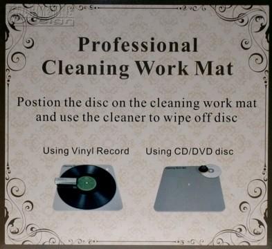 Reinigungsmatte für Schallplatte u.CD